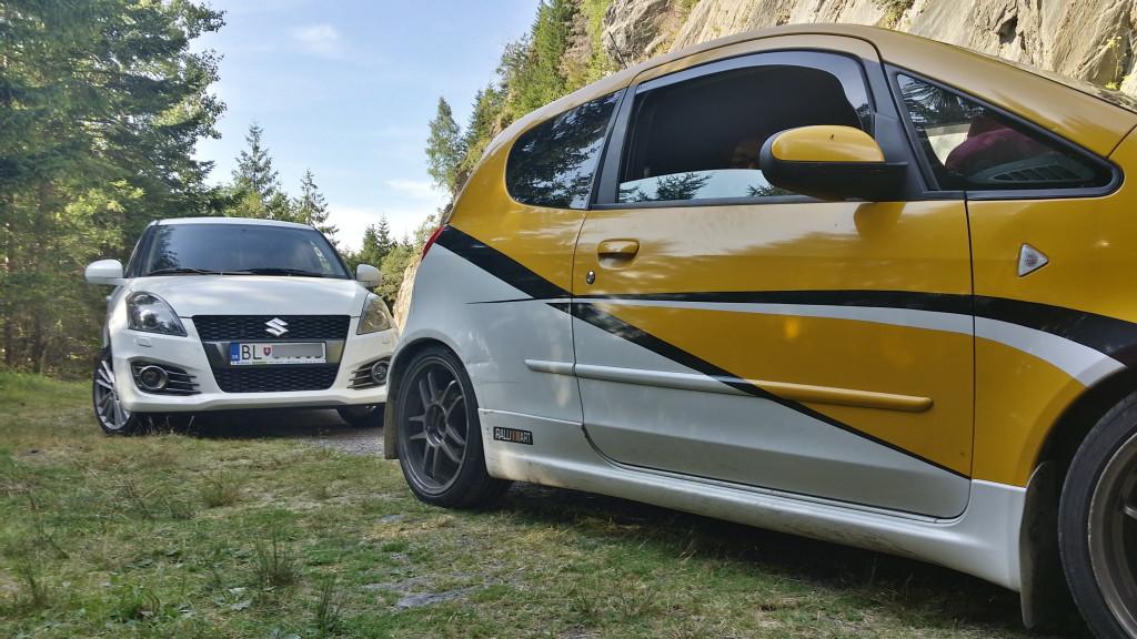 Suzuki Swift Sport & mitsubishi colt czt Transfagarasan