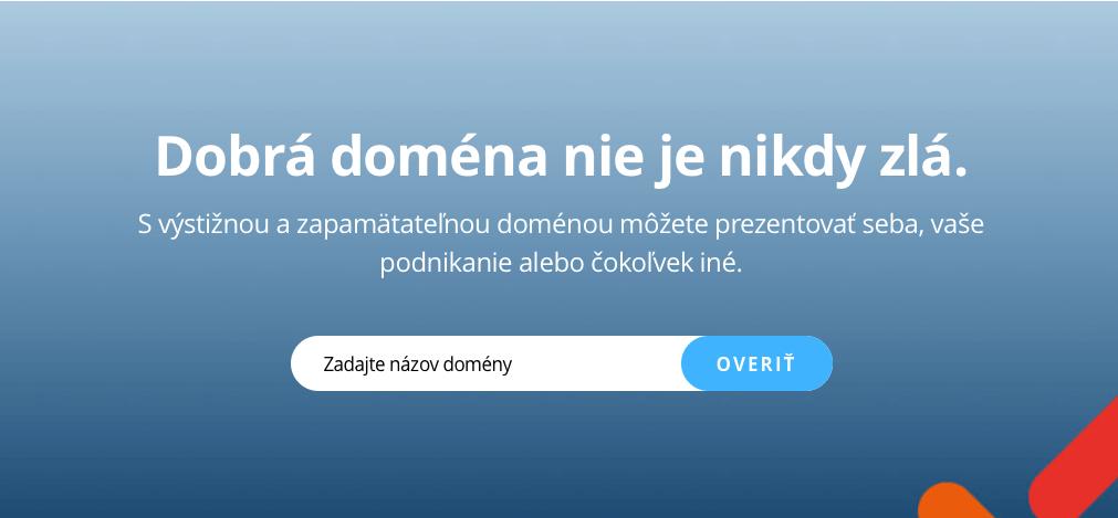 Ukážka z webu: Dobrá doména nie je nikdý zlá