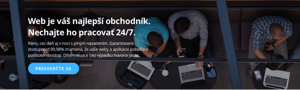 Ukážka z webu: Web je váš najlepší obchodník