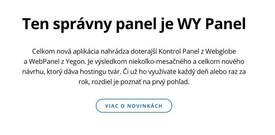 Ukážka z webu: Ten správny panel je WY Panel