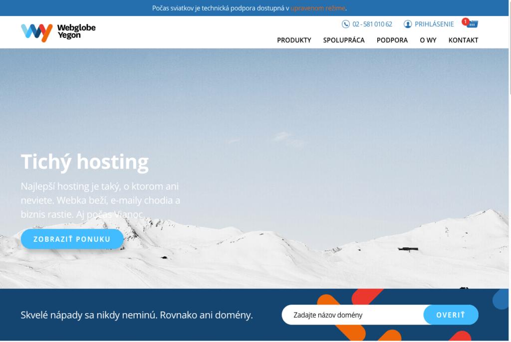 Ukážka z webu: Tichý hosting