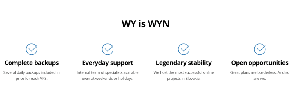 Ukážka z webu: WY is WYN