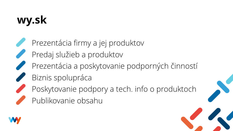 Ciele a očakávania stránky wy.sk