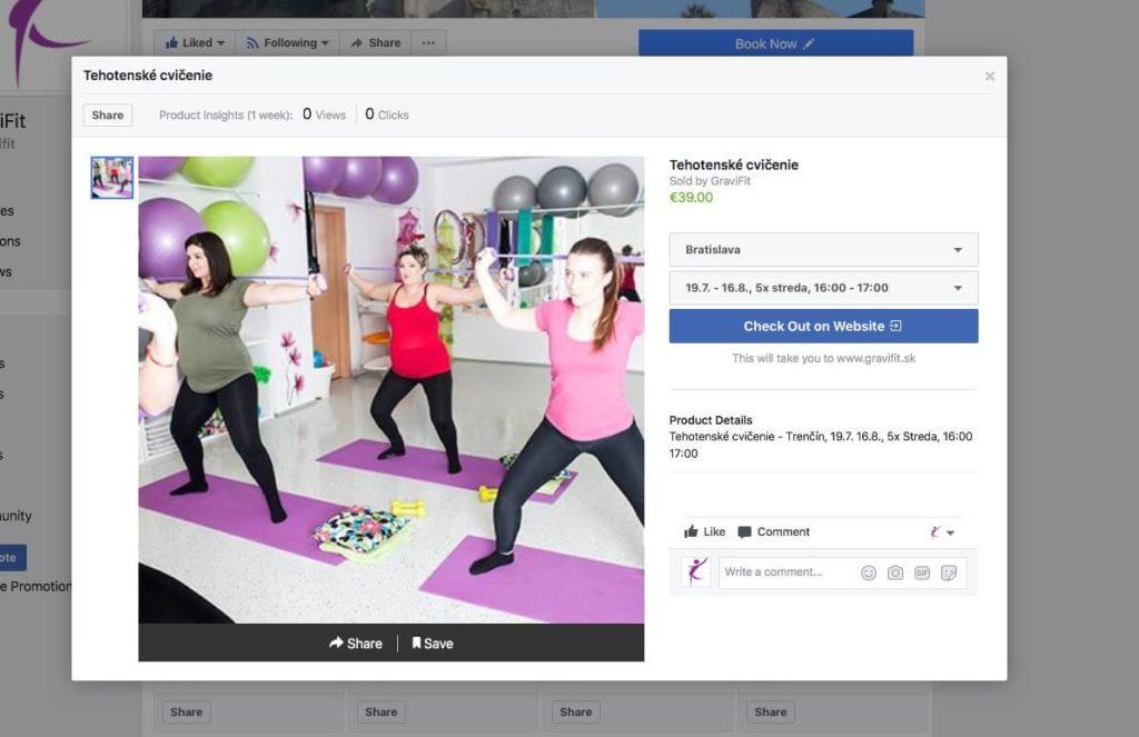 Synchronizované produkty z WooCommerce na Facebook stránke