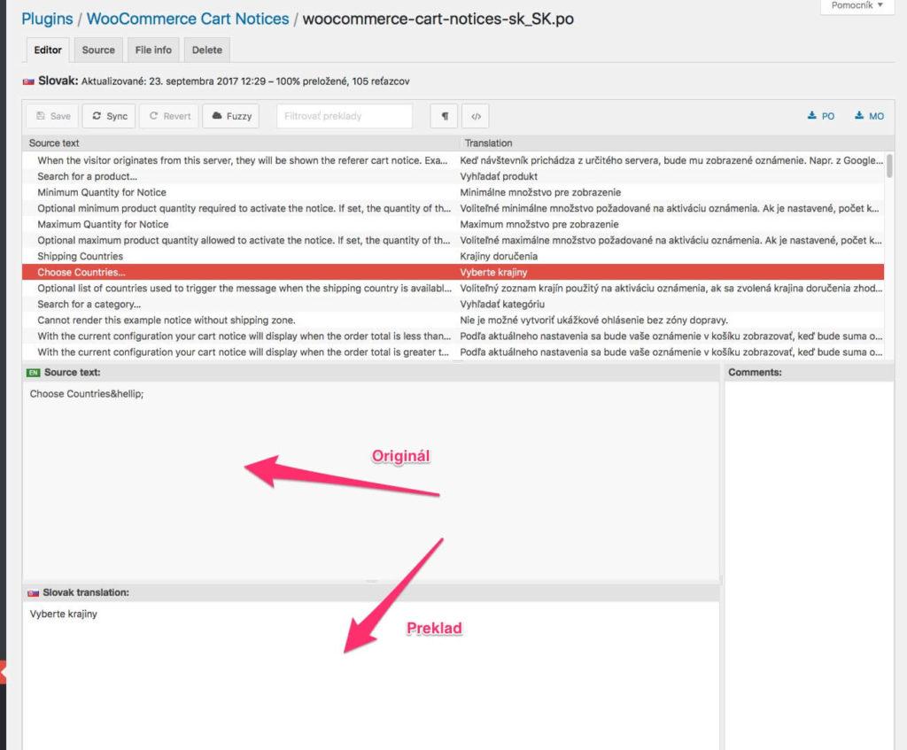 Preklad WordPress cez plugin Loco Translate
