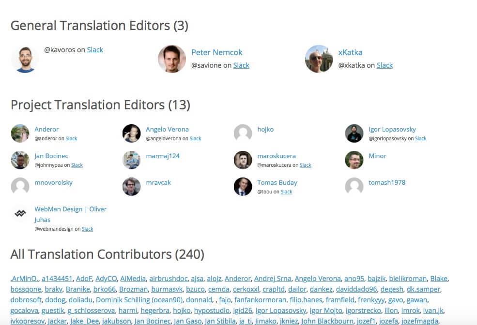 Editori slovenskej lokalizácie WordPress
