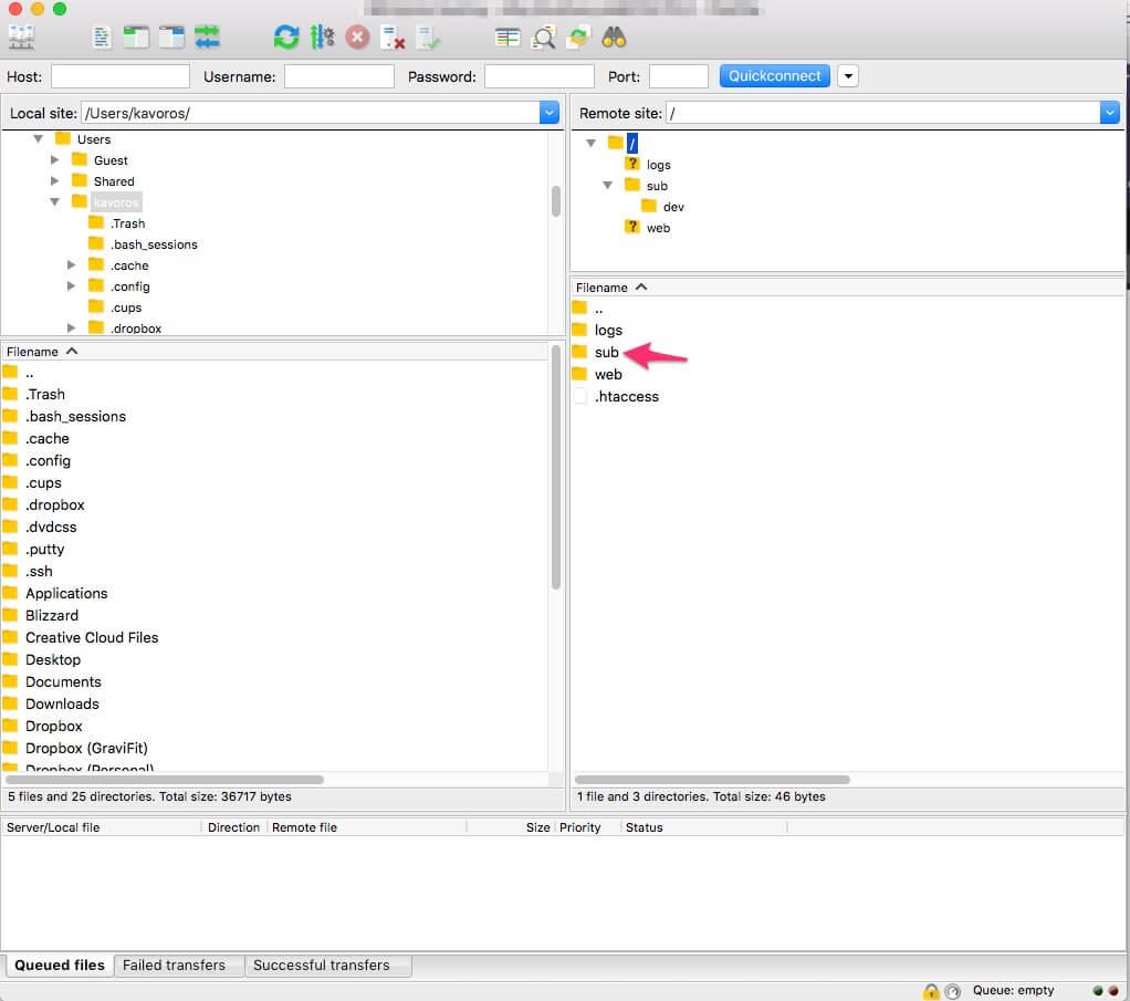 Vytvorenie novej subdomény cez FTP na hostingu WebSupport