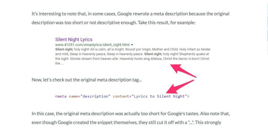 Ako Google upravuje meta popisky (meta description), Moz 2018