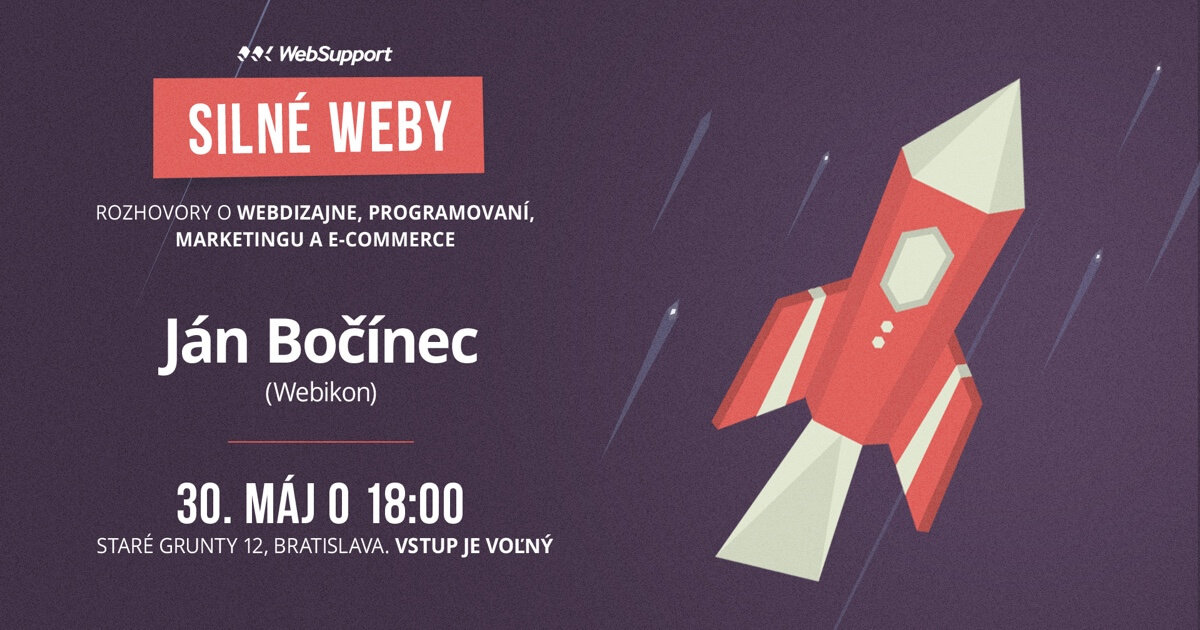 Silné weby: Ján Bočínec (05/18) @ WebSupport