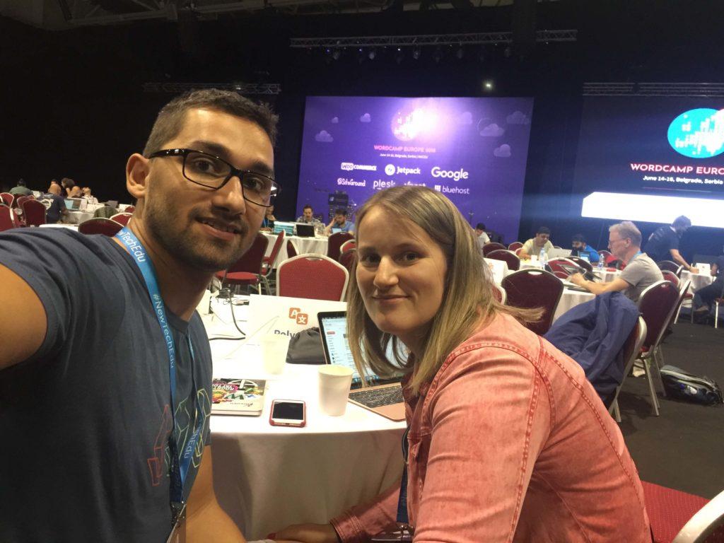 WordCamp Europe 2018 Contributor Day, Karol Vörös & Dominika Bašnáková