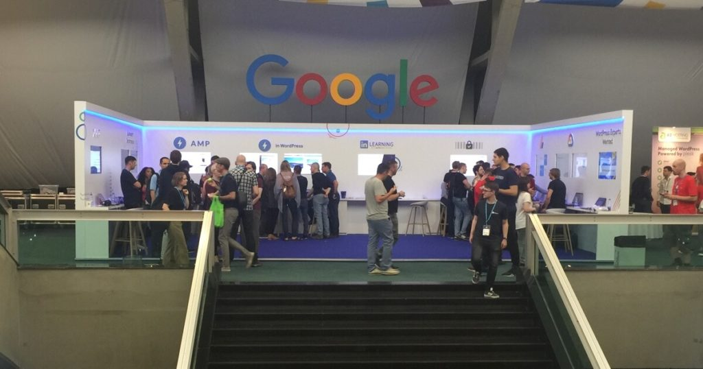Google stánok na WordCamp Europe 2018