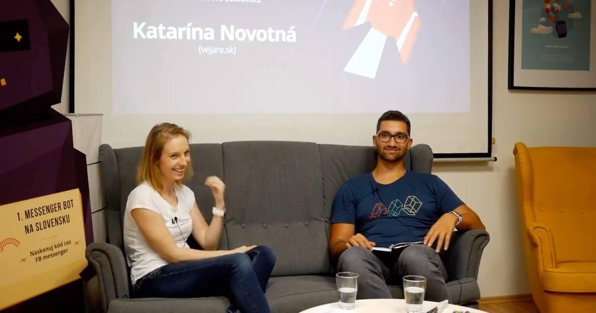 Katarína Novotná, Karol Vörös @ WebSupport event Silé weby, 10/2018